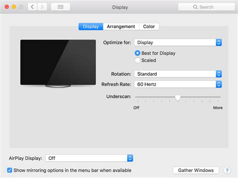 About overscan and underscan on your Mac, Apple TV, or