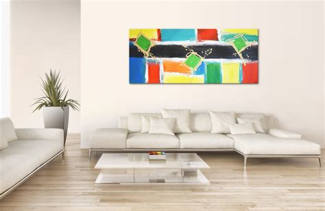 """Moderne Kunst auf Leinwand: """"Color touch"""" grosses buntes"""