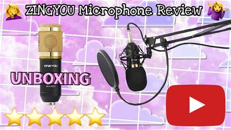 Zingyou Microphone Unboxing and Review - BM-800 (Amazon