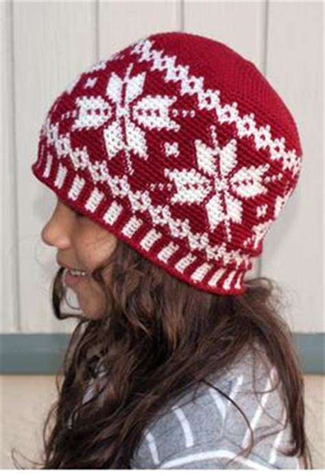 All Ages Frozen Snowflakes Crochet Beanie - Knitting