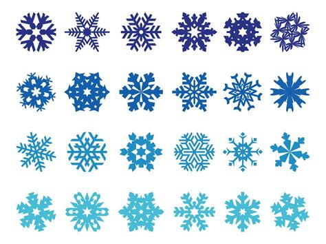 Pack Of Snowflake Vector Free Download - LTHEME