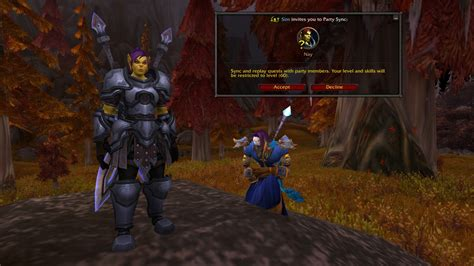 Using Party Sync in World of Warcraft to Play with Friends