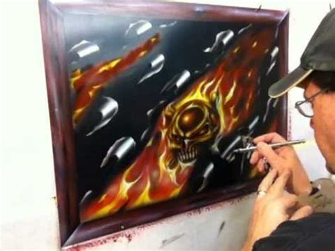 Airbrushing Ripped Fire Panel Part 3 - Custom Paint - YouTube