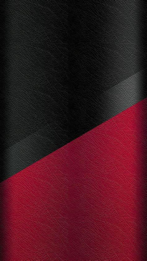 Dark S7 Edge Wallpaper 05 - Black and Red Leather Pattern