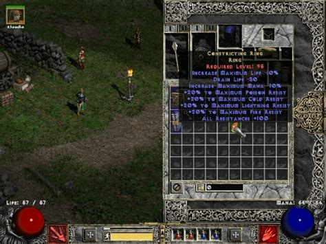 Constricting ring image - Glory of Nephilim mod for Diablo