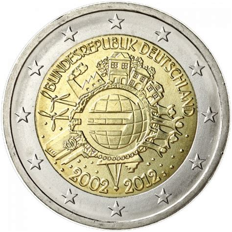 Germany 2 euro 2012 - 10 years of euro banknotes and coins