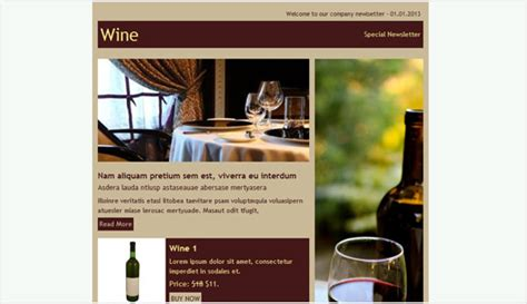Wine email newsletter templates   Email newsletter