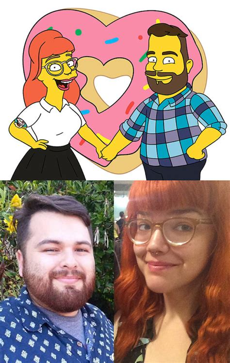 Artist Turns People Into Characters In 'The Simpsons