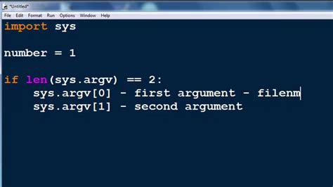 Command Line Arguments in Python programming language (sys