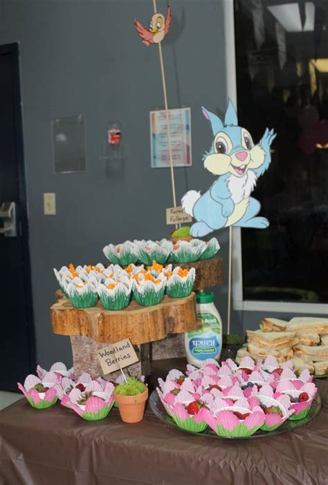 Bambi and thumper food party snacks | Deer birthday party
