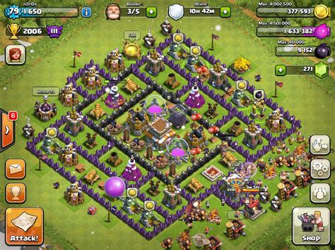Clash of Clans Tips : Town Hall level 8 Layouts