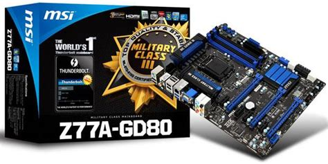 MSI unveils Thunderbolt-equipped Z77 motherboard - The