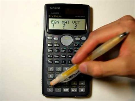 Casio fx-991MS - Solve a polynomial - YouTube