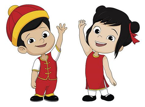 Royalty Free Cute Chinese Girl Clip Art, Vector Images